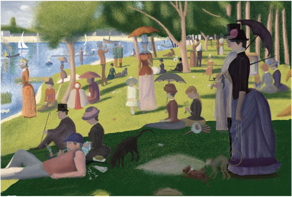Photoshop Study of Seurat